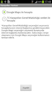 Karayolları Haritası – ekraanipildi pisipilt