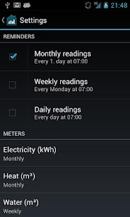 Meter Readings - screenshot thumbnail
