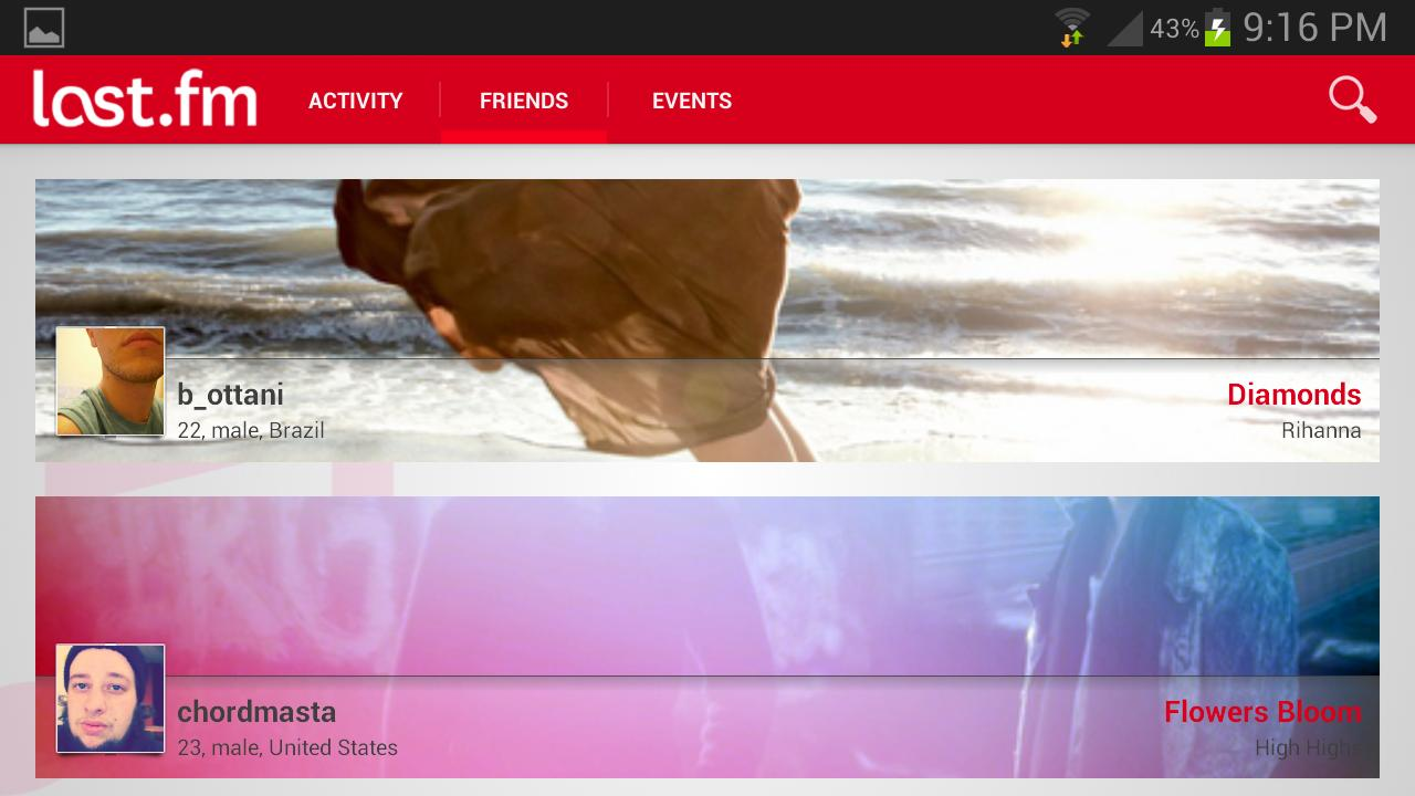 Last.fm Neu, Dev off at moment - screenshot