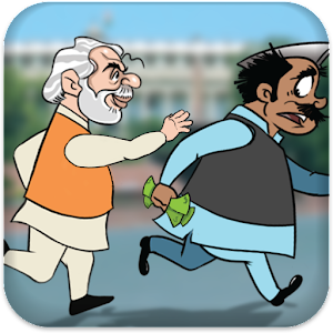 Modi Chase Black Money Icon