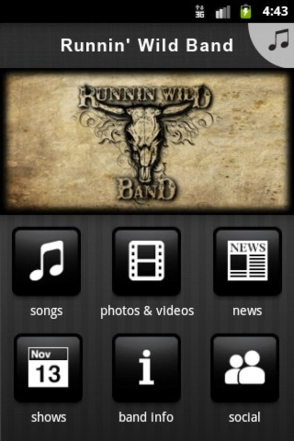 RUNNIN' WILD BAND - screenshot