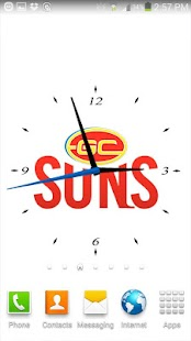 Gold Coast SUNS Analog Clock- screenshot thumbnail