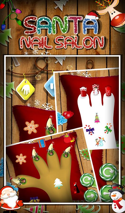 Santa nail salon kids game android apps on google play for A nail salon game
