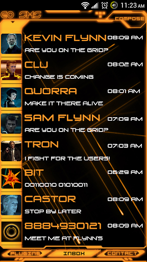 Legacy Evil Go SMS Pro Theme
