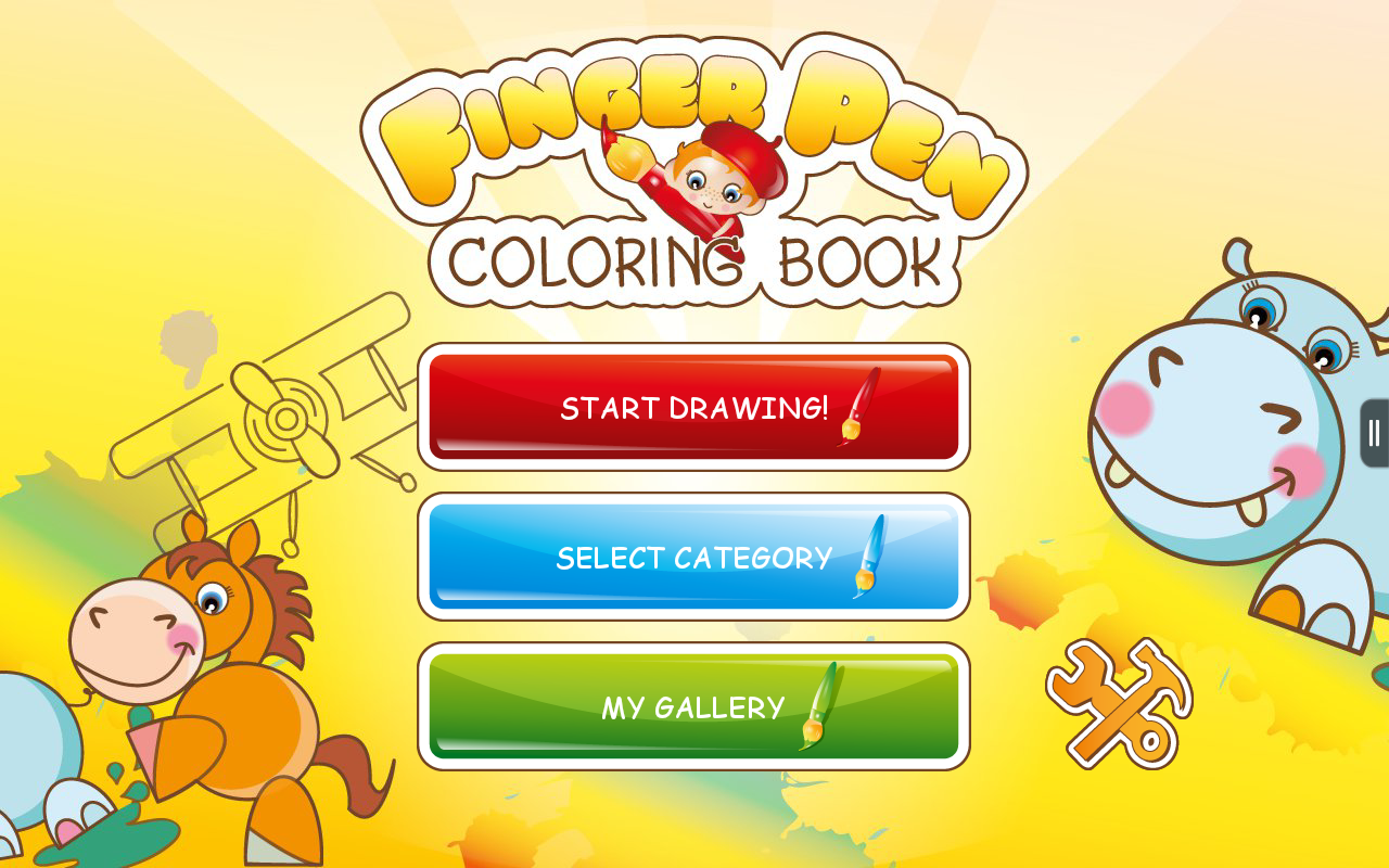 FingerPen 400+ coloring books - screenshot