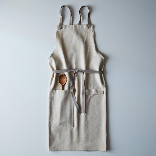 Kitchen Apron : Cross-Back Linen Kitchen Apron with Slate Ties on Food52