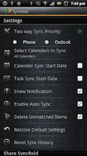 SyncRoid - Outlook Sync Lite - screenshot thumbnail