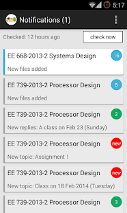 MDroid - Moodle mobile client - screenshot thumbnail