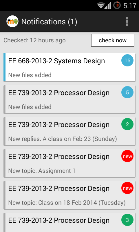 MDroid - Moodle mobile - screenshot