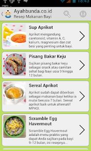 Resep Makanan Bayi Lengkap