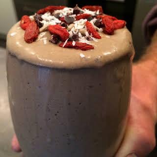 Choc Coconut Raspberry smoothie.