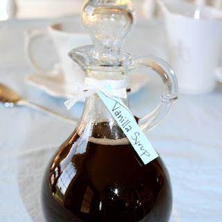 Homemade Vanilla Syrup.