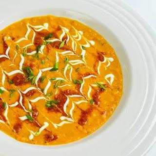 Sweet Carrot Bisque with Umami Pesto.