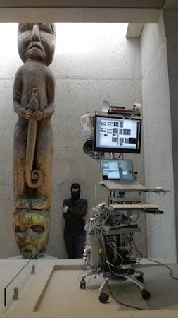 """<p> <a href=""""http://www.jamiegriffiths.com/i.v.y.--me-performance-installation--artist-talk-opening-night/""""><strong>I.V.Y. & me</strong></a> by Jamie Griffiths</p> <p> <em>Museum of Anthropology, Vancouver, Canada 2010</em></p>"""