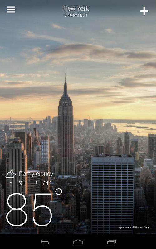 Yahoo Weather screenshots