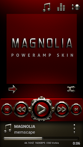 Poweramp skin Magnolia