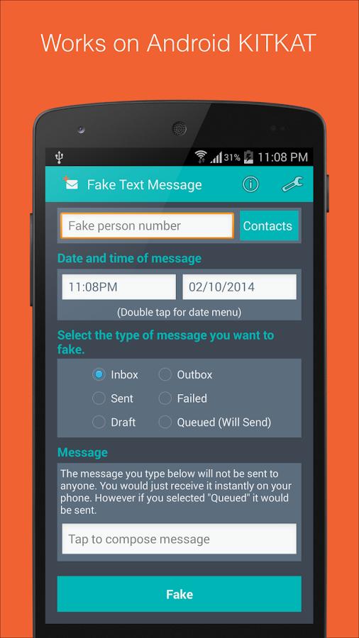 Fake Text Message- screenshot
