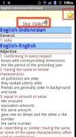 Screenshot of English Indonesian Dictionary