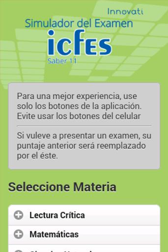 Simulador Examen ICFES  screenshots 2