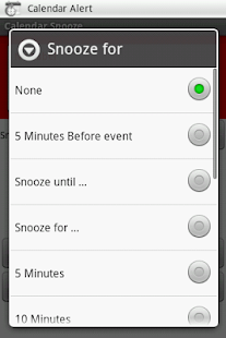 Calendar Snooze - screenshot thumbnail