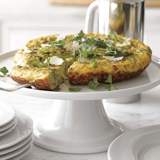 Frittata with Mixed Herbs, Leeks and Parmigiano-Reggiano Cheese