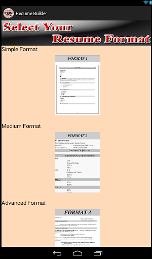 advanced resume builder for pc