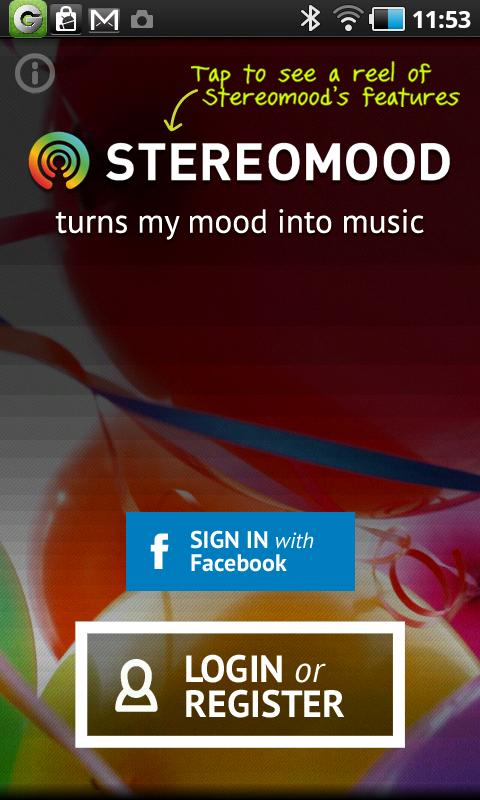 Stereomood - screenshot