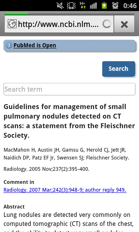 Pulmonary Nodule Fleischner- screenshot