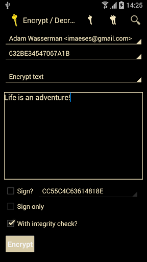 PGP KeyRing screenshot
