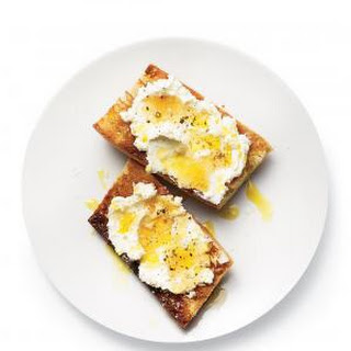 Ricotta, Olive Oil, and Honey Toasts