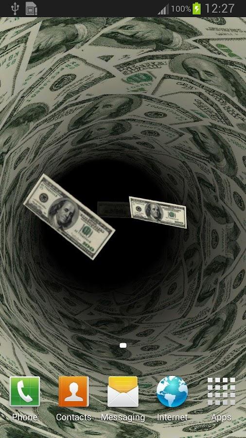 Money Live Wallpaper $ - screenshot