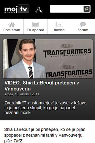 Moj TV Slovenija - screenshot