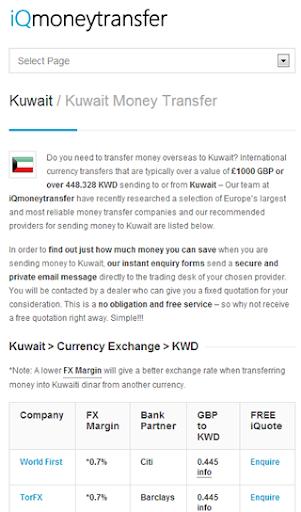 Kuwait Transfer KWD