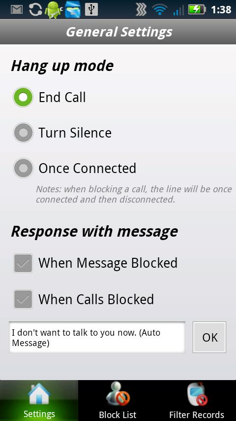 Ignore Calls - screenshot