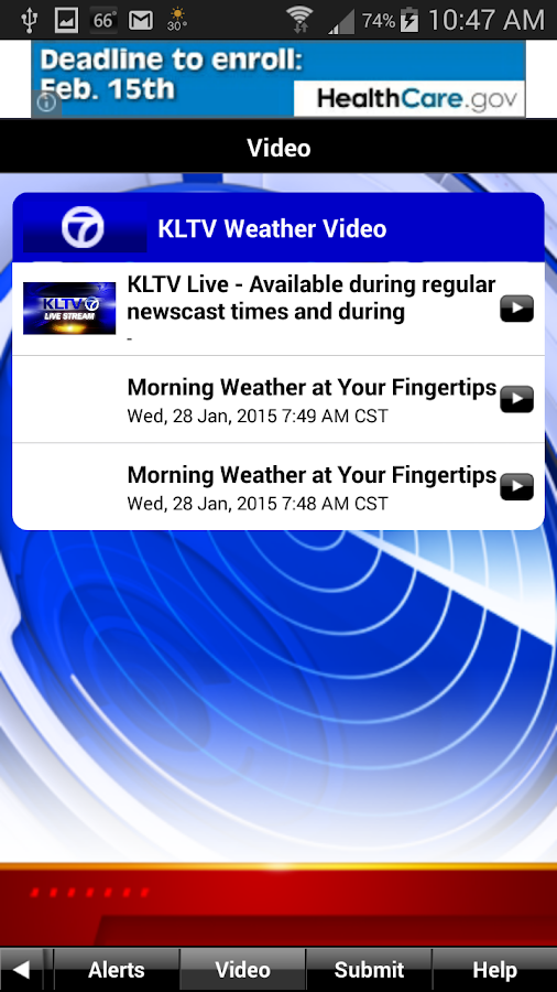 KLTV StormTracker 7 Weather - screenshot