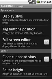 QuickHTML Screenshot 6