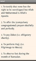 Screenshot of Hadith Collections Lite
