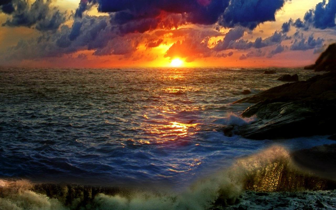 Sunset With Sea Wave Tap To See More Breathtaking Beach: Android Apps On Google Play