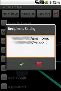 Easy Contacts to Mail- screenshot thumbnail