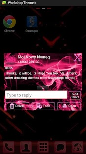 GO SMS Theme Pink Fire- screenshot thumbnail