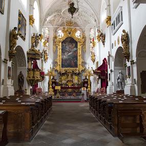 Kostol v Prahe by Ján Hrmo - Buildings & Architecture Places of Worship ( cechy, praha, kostol )