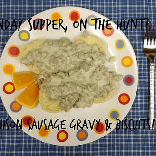 Venison Gravy & Biscuits #SundaySupper.