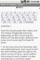 Screenshot of Works of Josephus, Flavius