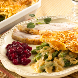 Green Bean Casserole with Caramelized Onions and Puff Pastry