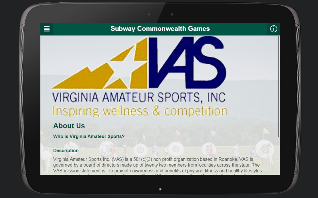 Virginia Amateur Sports- screenshot