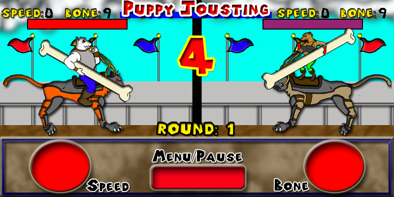 Puppy Jousting- screenshot