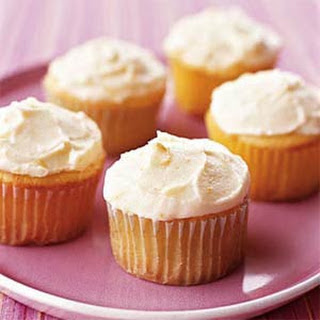 Orange Marmalade-Ricotta Cupcakes with Marmalade Buttercream Frosting.