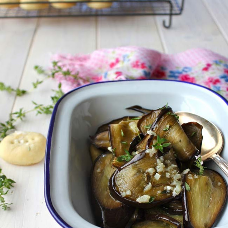 Eggplant with Calabrese Cheese and Italian Herb Crackers Recipe