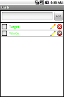 Screenshot of List It