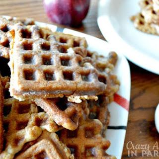 Glazed Apple Fritter Waffle Doughnuts